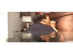 Horny Bbw slut sucks the cum out a bbc