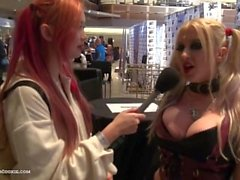 Leya Falcon tells Harriet Sugarcookie why she loves to fuck during AVN 2016