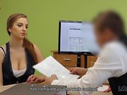 LOAN4K. Buxom babe gets fucked on table of loan manager...