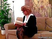 Two coeds found a dildo on the sofa