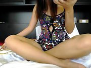 Sexy amateur Asian teen pleasing pussy