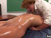 Pretty schoolgirl pleases a horny teacher