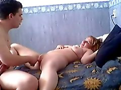 Horny Fat Chubby Teen riding her friend on cam