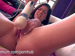 Jenna Jay using a toy for screaming orgasms.