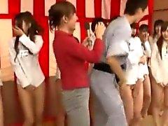 Oriental hotties in weird asian game show