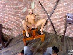 Sexy slave Angel Piaff unique VR porn scene