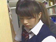 Shy School Teen molested in Bookstore