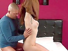 Sweet cutie stretches narrowed crack and gets deflorated