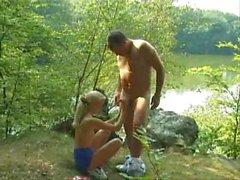 Boating couple fucks hardcore outdoors