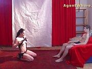 Lucky teen boy gets first striptease