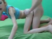Little webcam girl gets a load - more video on sexycams8 org