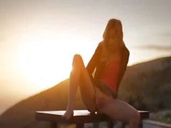 Sunset in Malibu in art posing movie