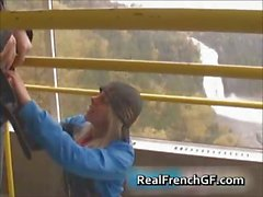 Amazing french gf vacation sex