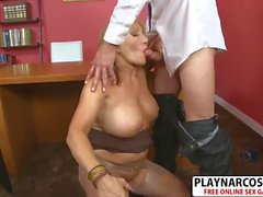 Hottie Not Mother Luna Azul Gets nailed Hot Touching Dad's Friend