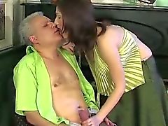 Teen babe Jaclyn seduces daddy Caspar