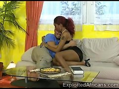 Skinny African Redhead Teen Got Her Freshly Shaved