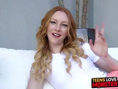 Young redhead Katy Kiss gets fucked and filled with hot cum