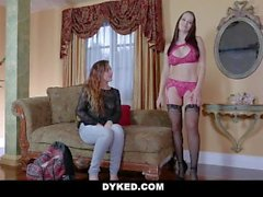 Dyked - Teen Gets Fucked & Dominated By Straight Milf For Cash