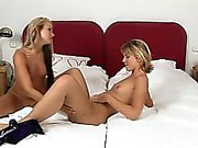 Two women are fingering