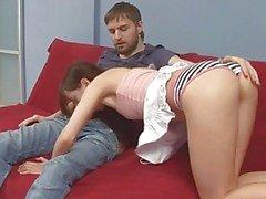 Teen Ivana Fukalot sucking boyfriends cock