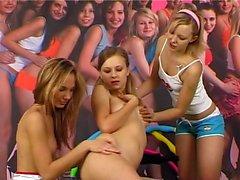 Blonde lesbian amateur teen strapon sex