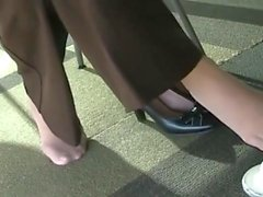 Candid Library White Nylons