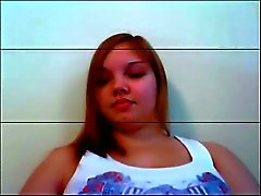 Chubby teen on webcam