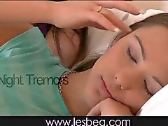 Lesbea Teen students share bed