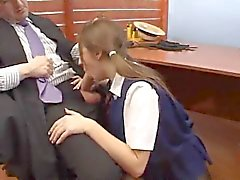 Dean of the school fucks the hot schoolgirl