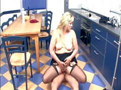 Nice German Mature Blonde Fucked by Younger Man