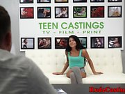 Hardfucking petite teen enjoying bdsm casting