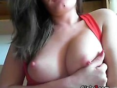 Woman with nice tits on the bed