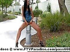 Ftv girl tessa adorable brunette girl public flashing boob