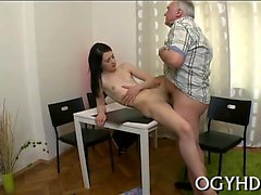 Horny young gal gets fantastic experience with old lover