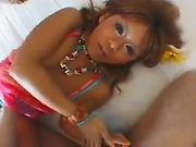 Foxy teen gets her clit vibrated in different positions bef