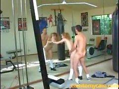 Teen slut drills in gym