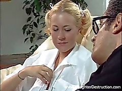 Young girlfriend fucked hard by an older man