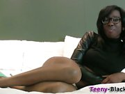 Busty ebony teen slut eaten out