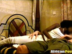 African amateur babe reverse cowgirl fucking interracial