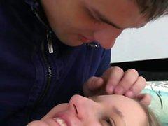 Cute teen seduces her boyfriend for shagging