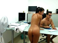 Seductive young girl loses all her clothes and exposes her