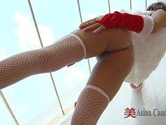 Merry XXXmas Asian Girl Solo's