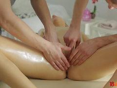 18 Videoz - Taissia Shanti - Massage and Golden Gate fuck
