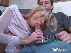 Slutty young blonde gets her tight ass
