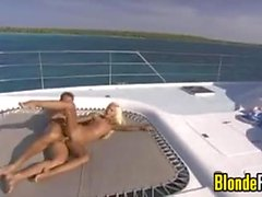 Blonde Teen Fucking On A Boat