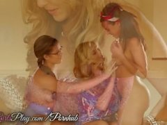 When Girls play - Two teens share milf