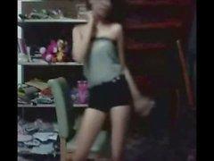 Thai teen dance in home