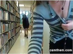 Kinky Teen Lesbians Flashing At The Library