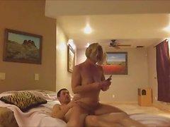 Milf Fucking A Young Boy In Her Basement