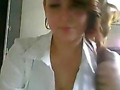 Cute busty big tit teen teases on webcam
